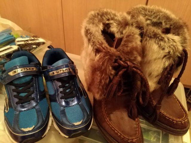 フリーマーケット用の売る靴