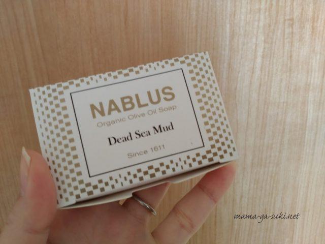 ナーブルスソープの外装の箱の写真