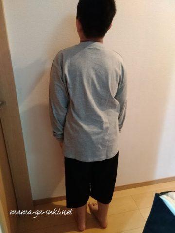 ニッセンで買ったぽっちゃりな子供服を試着