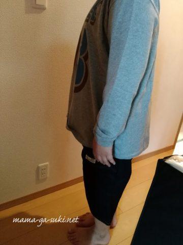 ニッセンで買ったE体の子供服を着た息子の画像