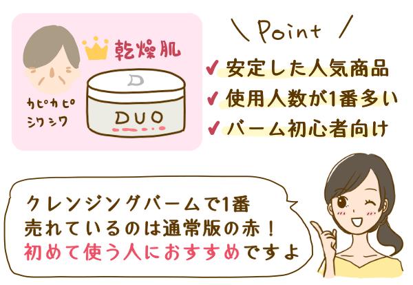 DUOクレンジングバームの特徴